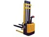 STACKER WITH POWERED DRIVE AND POWERED LIFT